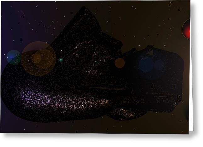 Office Space Digital Art Greeting Cards - Space Ship Duccon 4200 Light Years Away E 21 Greeting Card by Sir Josef  Putsche
