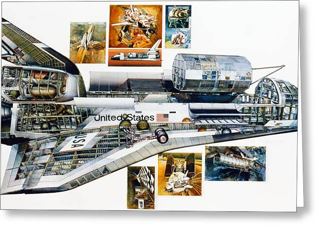 1981 Photographs Greeting Cards - Space Shuttle Columbia Greeting Card by Granger