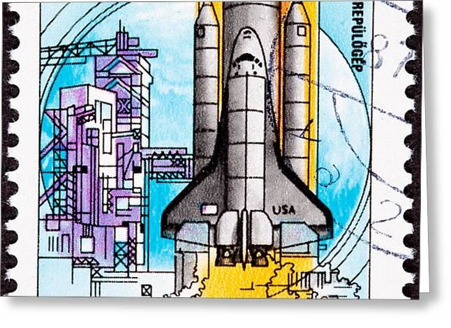 Space Shuttle Columbia Rocket Launch  Greeting Card by Jim Pruitt