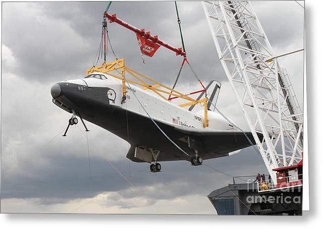 Space Shuttle Enterprise Greeting Card by Steven Spak