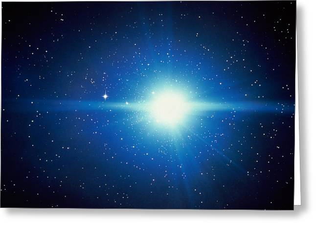 Burst Greeting Cards - Space, Starburst Greeting Card by Panoramic Images