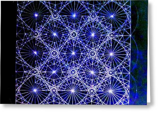 Sacred Drawings Greeting Cards - Space Time at Planck Length Vibrating at Speed of Light due to Heisenberg Uncertainty Principle Greeting Card by Jason Padgett