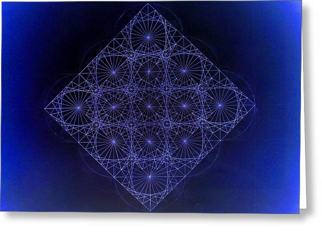 Fractal Greeting Cards - Space Time Sine Cosine and Tangent Waves Greeting Card by Jason Padgett