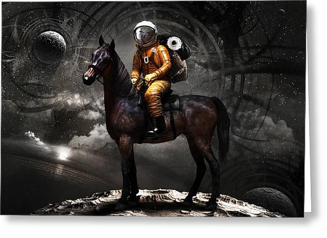 Dreams Greeting Cards - Space tourist Greeting Card by Vitaliy Gladkiy