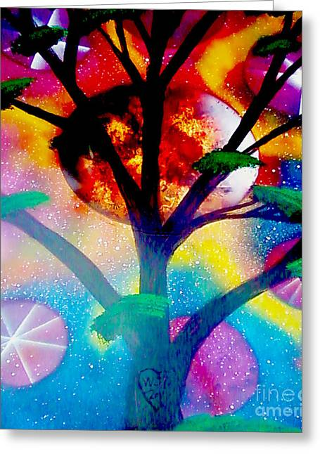 Dorsett Greeting Cards - Space Tree Greeting Card by William  Dorsett