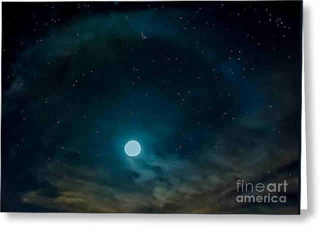 Outerspace Greeting Cards - SPACE WiNDOW Greeting Card by Angela J Wright