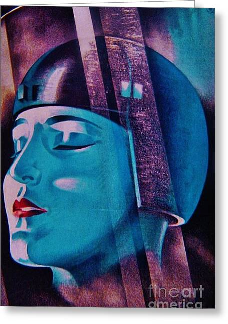 Art Decorator Discounts Greeting Cards - SPACED OUT  Art Deco Greeting Card by Gunter  Hortz