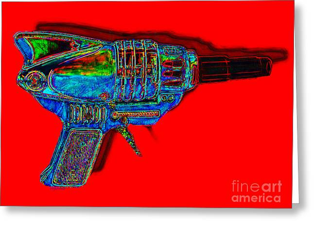 Startrek Greeting Cards - Spacegun 20130115v1 Greeting Card by Wingsdomain Art and Photography
