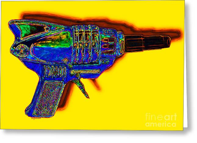 Startrek Greeting Cards - Spacegun 20130115v2 Greeting Card by Wingsdomain Art and Photography