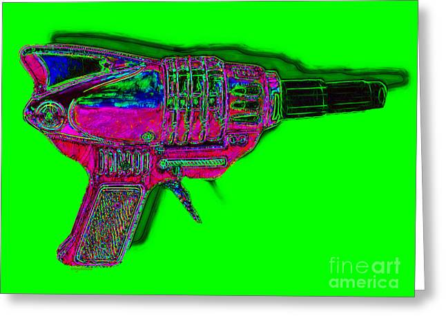 Startrek Greeting Cards - Spacegun 20130115v3 Greeting Card by Wingsdomain Art and Photography