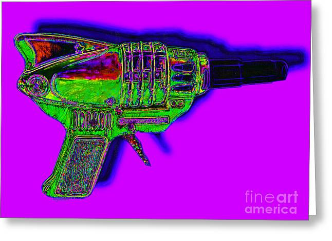 Startrek Greeting Cards - Spacegun 20130115v4 Greeting Card by Wingsdomain Art and Photography