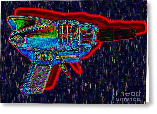 Startrek Greeting Cards - Spacegun 20130115v5 Greeting Card by Wingsdomain Art and Photography