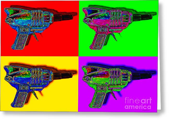 Startrek Greeting Cards - Spacegun Four 20130115 Greeting Card by Wingsdomain Art and Photography
