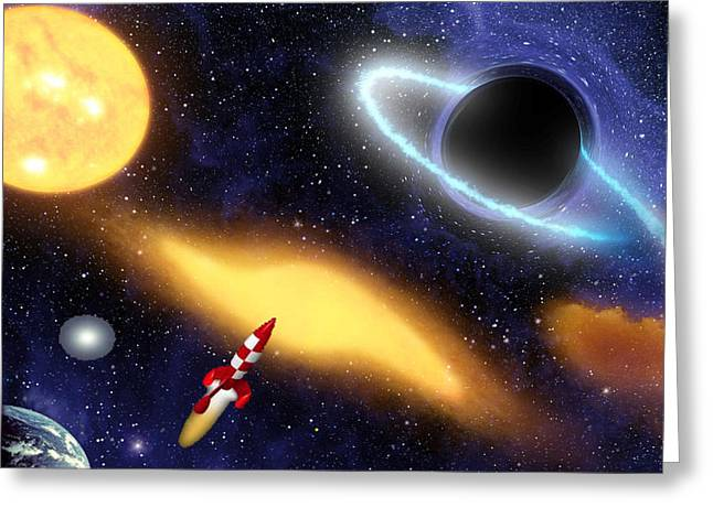 Office Space Digital Art Greeting Cards - Spaceousness Greeting Card by Bruce Iorio