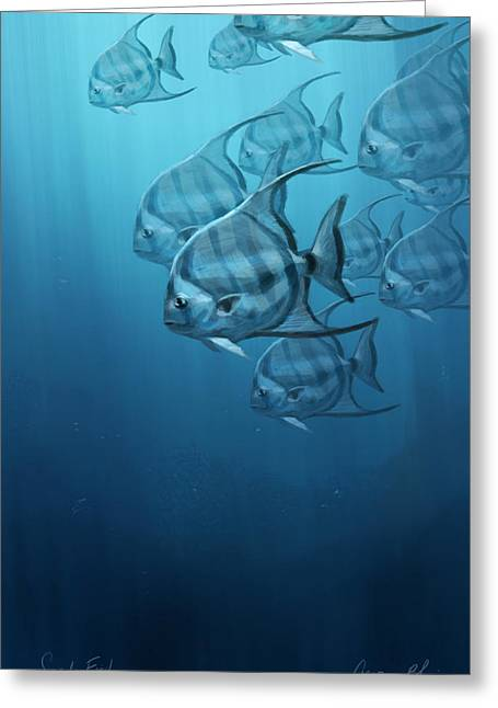 Fish Digital Art Greeting Cards - Spade Fish Greeting Card by Aaron Blaise