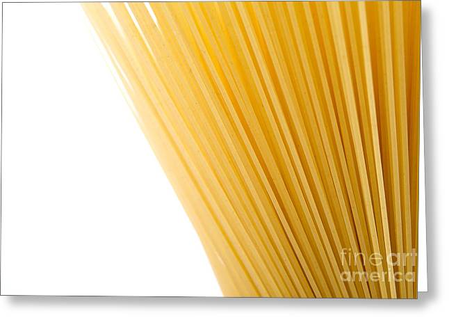 Spaghetti Greeting Cards - Spagetti Greeting Card by Yew Kwang