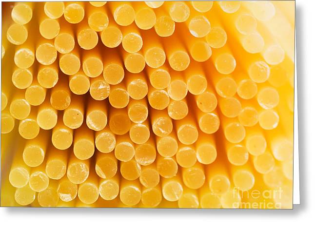 Spaghetti Noodles Greeting Cards - Spaghetti macro Greeting Card by Mythja  Photography