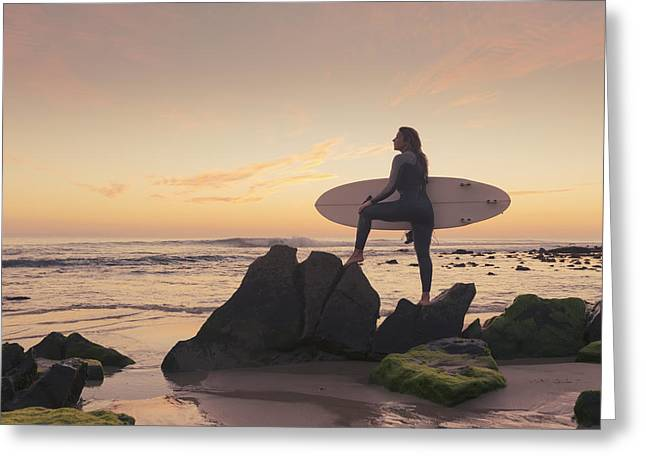 Surfing Board Greeting Cards - Spain, Andalusia, Cadiz, Costa De La Greeting Card by Ben Welsh