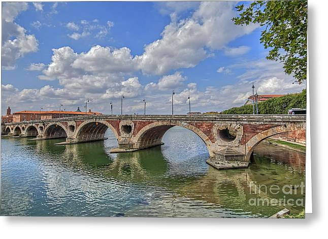 Abstract Digital Pyrography Greeting Cards - Spain Bridge-5 Greeting Card by Mauro Celotti