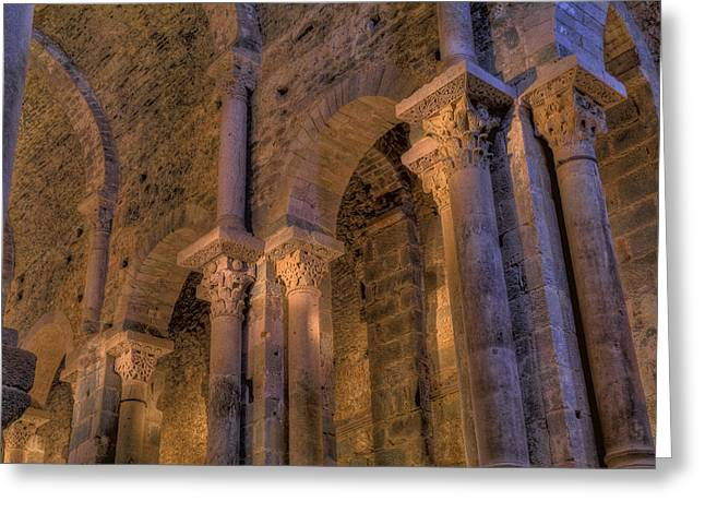 Christianism Greeting Cards - Spain, Girona. Sant Pere De Rodes Greeting Card by Tips Images