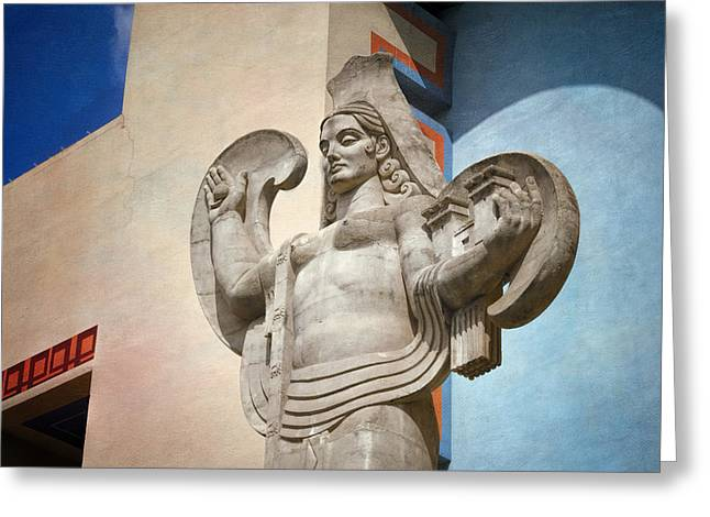 Historic Statue Greeting Cards - Spain over Texas Greeting Card by Joan Carroll