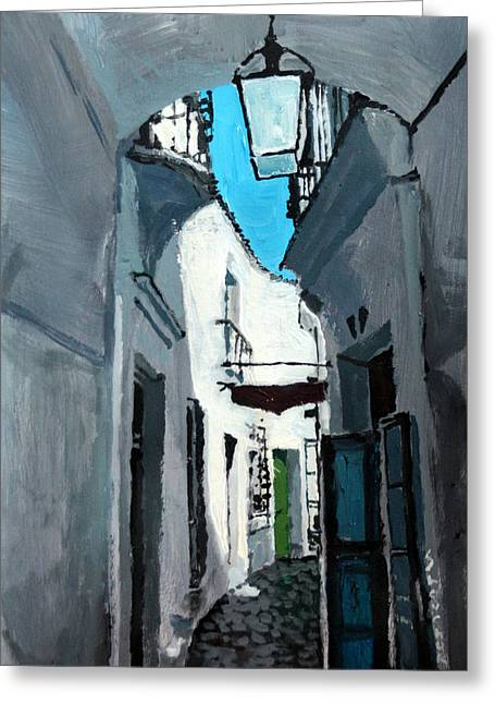 Old Street Greeting Cards - Spain Series 02 Greeting Card by Yuriy Shevchuk