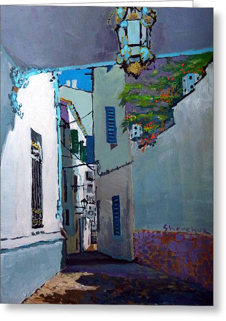 Old Building Greeting Cards - Spain Series 09 Cadaques Greeting Card by Yuriy Shevchuk