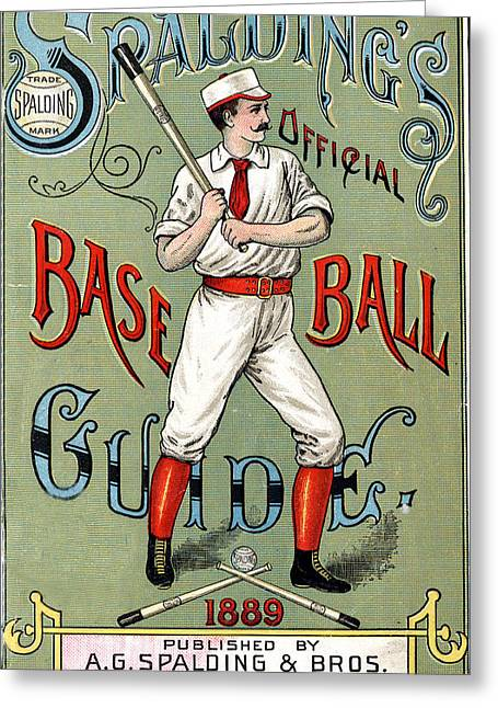 Grate Digital Greeting Cards - Spalding Baseball Ad 1189 Greeting Card by Unknown