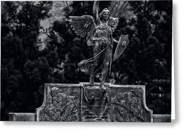 Nike Greeting Cards - Spanish American War Memorial Hartford Greeting Card by Phil Cardamone