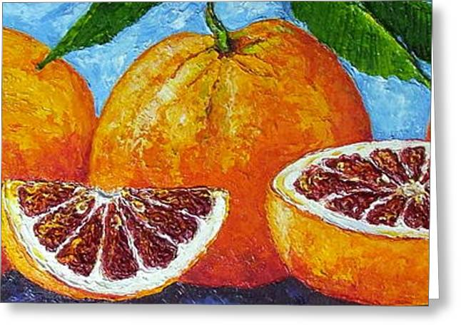 Paris Wyatt Llanso Greeting Cards - Spanish Blood Oranges Greeting Card by Paris Wyatt Llanso