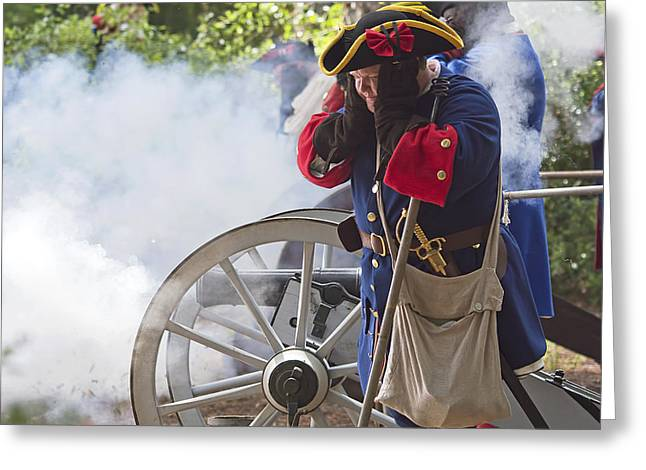 Reenactment Greeting Cards - Spanish Cannon Greeting Card by Kenneth Albin