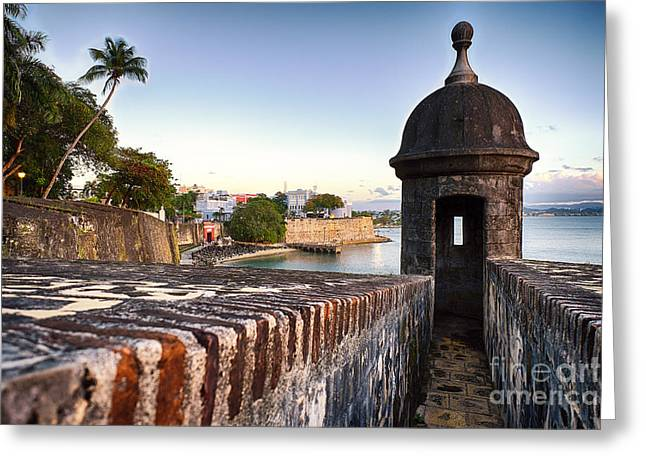 Colonial Architecture Greeting Cards - San Juan Spanish Caribbean Greeting Card by George Oze