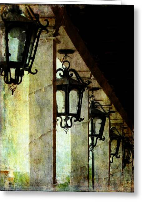 Streetlight Greeting Cards - Spanish Lights Greeting Card by Barbara Chichester