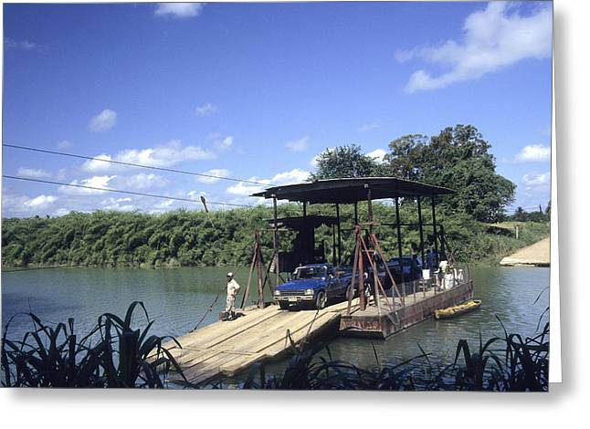 Mennonite Community Greeting Cards - Spanish Lookout ferry Belize Greeting Card by Jim  Wallace