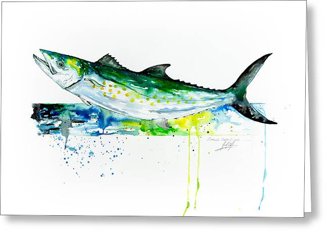 Rainbow Trout Greeting Cards - Spanish Mackerel Greeting Card by Joel DeJong