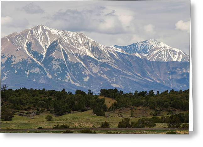 Spanish Peaks 2 Greeting Card by Aaron Spong