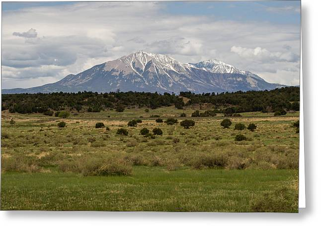 Trinidad Colorado Greeting Cards - Spanish Peaks Greeting Card by Aaron Spong