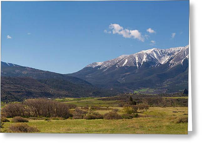 Trinidad Colorado Greeting Cards - Spanish Peaks from La Veta Greeting Card by Aaron Spong