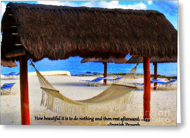 Chaise Greeting Cards - Spanish Proverb Greeting Card by Patti Whitten