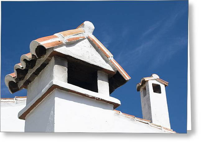 Serrania Greeting Cards - Spanish Rooftops Greeting Card by Anne Gilbert