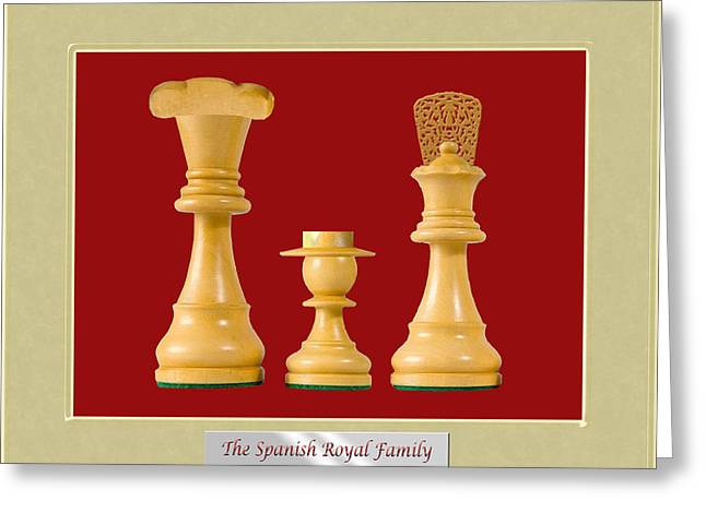 Royal Family Arts Greeting Cards - Spanish Royal Family Chess Greeting Card by Enrique Amat
