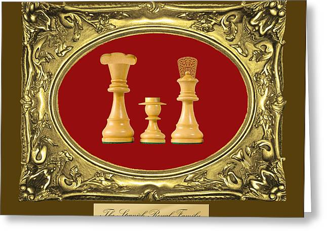 Royal Family Arts Greeting Cards - Spanish Royal Family Chess Framed Greeting Card by Enrique Amat