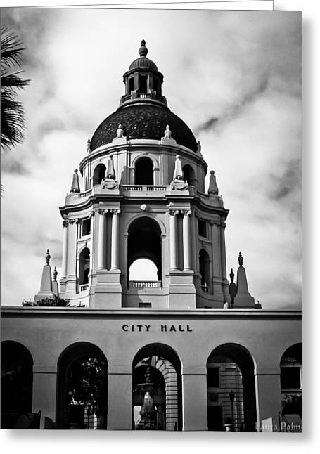 Laura Palmer Greeting Cards - Spanish style dome on Pasadena City Hall building Greeting Card by Laura Palmer