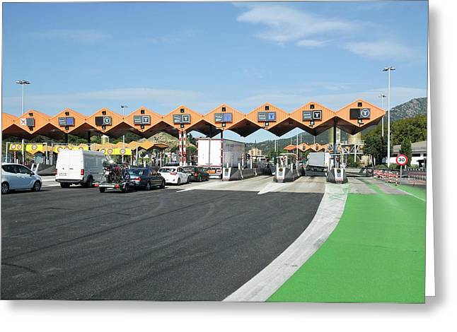 Spanish Toll Booths Greeting Card by Photostock-israel