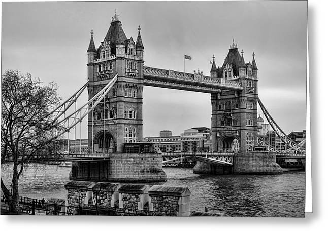 Spanning The Thames Greeting Card by Heather Applegate