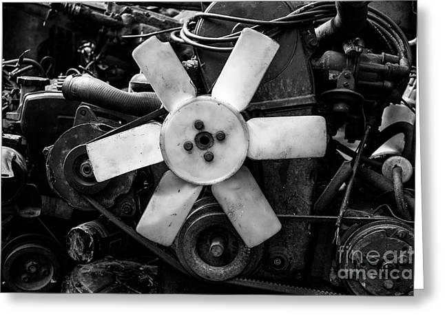 Manufacturing Greeting Cards - Spare Parts III Greeting Card by Dean Harte