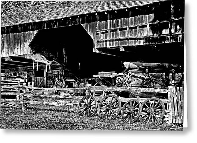 Tennessee Barn Greeting Cards - Spare Wheels Greeting Card by Paul W Faust -  Impressions of Light