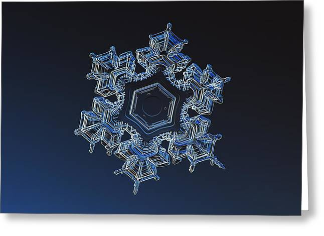 Frost Greeting Cards - Snowflake photo - Spark Greeting Card by Alexey Kljatov