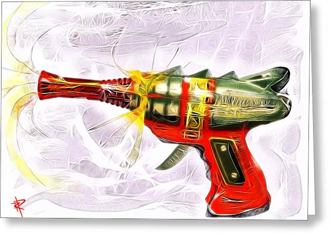 Astronauts Mixed Media Greeting Cards - Spark Maker Greeting Card by Russell Pierce