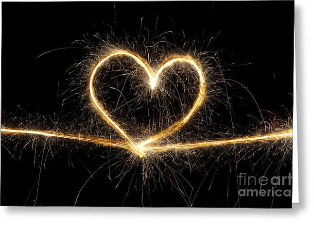 Firework Greeting Cards - Spark of Love Greeting Card by Tim Gainey